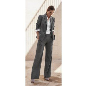 Aritzia Matching Grey Pinstriped Suit Blazer Set